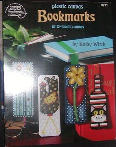 Plastic Canvas Bookmark Patterns | ... Canvas Bookmarks in 10-mesh 8 Designs - Plastic Canvas Patterns