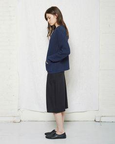 La Garçonne Moderne / Lou Drawstring Skirt, La Garçonne Moderne / Jean Pocket Pullover