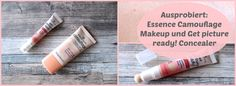 Essence Teint Produkte ausprobiert: Camouflage Make-up und get picture ready Concealer!