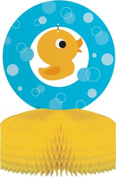 Rubber Ducky Centerpieces $18.95 for six. This site has all the cutest matching party supplies!