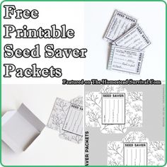 The Homestead Survival   Free Printable Seed Saver Packets For Creating A Seed Bank   http://thehomesteadsurvival.com