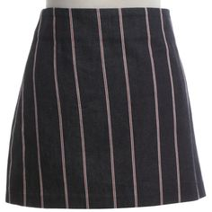 Pre-owned Mini skirt with stripes ($185) ❤ liked on Polyvore featuring skirts, mini skirts, striped skirts, cotton short skirts, alexander wang, stripe skirt and mini skirt