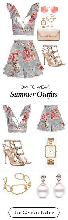 """""""Outfit 476"""" by caa123 on Polyvore featuring Zimmermann, Valentino, Tory Burch, Michael Kors, Jules Smith and Ray-Ban"""
