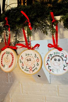 Personalized Family Embroidery Hoop Ornaments featuring Erin from In Between Laundry {Handmade Ornament No.6}