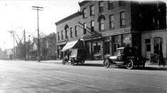 From Bob Grove This is really an amazing image from 1922. This is Livingston Ave. at Oakwood Ave looking to the Northwest. This is an empty lot today In 1922 this was a small business district on a major streetcar line. The Oakwood pharmacy is at 1092 Livingston Ave., an A&P Grocery was at 1094 Livingston Ave., the Frank P Hall Hardware was at 1098 Livingston Ave.and then a small bakery.  The Ohio State University Archives The Columbus Metropolitan Library Bob Grove