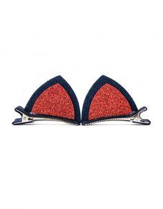 Spinki do włosów kocie uszy czerwone #paniKOTA #koty #kociara #kocierzeczy #spinka #wieczórpanieński #przebraniekot
