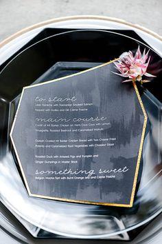A gorgeous geometric menu http://www.secretdiary.co.za/