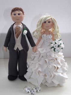 personalised bride and groom wedding cake by babytracyscaketopper, £68.00