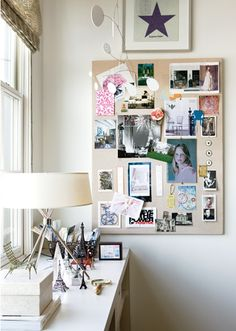 DIY Inspiration Lighting From Up-cycled Globes-- For the office. office how to make soap Gorgeous home office space! Creative Office Space, Home Office Space, Office Spaces, Small Office, Office Nook, Inspiration Boards, Home Decor Inspiration, Board Ideas, My New Room