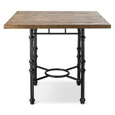 Bralton Counter Height Dining Table - Mixed Material - The Industrial Shop™