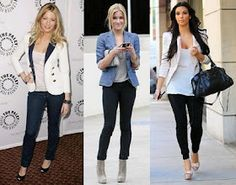 Blazers and skinny jeans, love it!