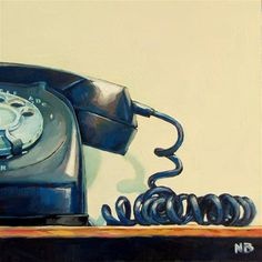 """Hang Up"" - Original Fine Art for Sale - © Nora Bergman"