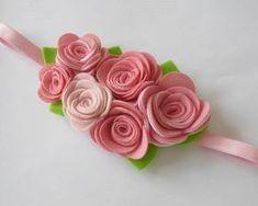rosas de feltro-7 … Mais