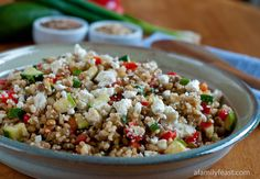 Lentils with Brown Rice and Feta. Lots of recipes on this blog that look so mouth-watering (but most aren't necessarily healthy-looking). Want to try the aioli and some of her Mexican dishes.