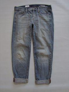 """GAP 1969 Sexy Boyfriend Jeans 27 4 Citrine distress Denim Medium Ankle 27"""" 2012 #GAP #Boyfriend"""