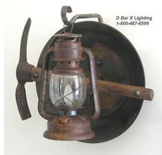 Rustic Wall Sconce Light Fixture -  Miners  Lantern Light - DX804 - Custom hand  sc 1 st  Pinterest & 11 best Rustic Wall Sconces u0026 Light Fixtures images on Pinterest ...