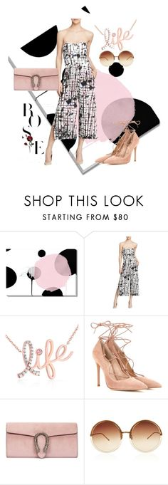 """""""SUNGLASS"""" by masayuki4499 ❤ liked on Polyvore featuring Milly, Kobelli, Gianvito Rossi, Gucci and Linda Farrow"""
