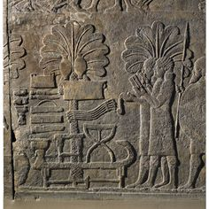 Stone panels from the South-West Palace of Sennacherib (Room 28, nos. 7-9).  Nineveh, northern Iraq. Neo-Assyrian, about 640-615 BC.  One of the last Assyrian relief carvings.