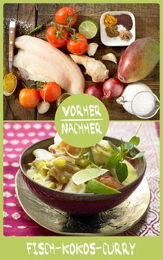 http://eatsmarter.de/rezepte/fisch-kokos-curry – Die südindische Köstlichkeit verwöhnt schon beim Kochen mit exotischen Düften