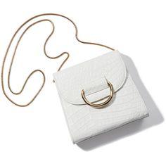 Tiny Box D ❤ liked on Polyvore featuring bags, handbags, shoulder bags, hard clutch, box clutch, crocodile purse, croc handbags and croco handbags