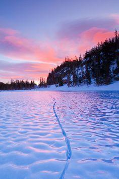 Sunrise Frozen Loch Lake Colorado