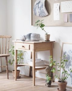 stripped woods look fab against white walls. for more ideas try welovehomeblog