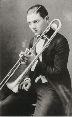 Jack Teagarden, father of the modern jazz trombone, as a young man.