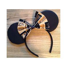 Black Anaheim Ducks Mouse Ears on Etsy, $26.00