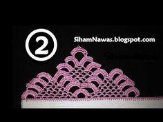زواقة رائعة بالكروشي للجلابة او قفطان الجزء (1) || Siham Nawas || - YouTube