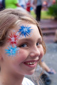 ✯ Darling Firework Face-paint~* ✯ face paint facepaint face painting