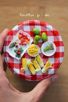 Week 16 of Miniature fruit and veggies in dollhouse scale, by Stephanie Kilgast, aka PetitPlat