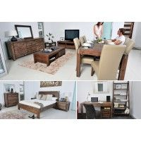 SILVERWOOD 21pce Package Deal $4999  Desk, File Cabinet, Study Chair, 9pce Dinning Suite, ETU, Buffet, Coffee Table, Lamp Table, Queen Bed, Tallboy 2xBedside Chests  SUPER AMART
