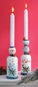 Snowmen Candlesticks