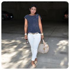 mimi g.: DIY Top And Sometimes She Wears Flats and No Sunnies. Cool Outfits, Summer Outfits, Casual Outfits, Diy Tops, Loose Knit Sweaters, Fashion Sewing, Fashion Advice, Color Combinations, Sunnies
