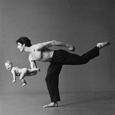 Parent & child posing for #Yoga ~Daniel Ezralow