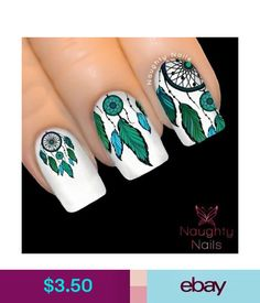 Bad dreams are always one of the worst experiences of every human living. Indian Nail Designs, Fall Nail Art Designs, Nail Polish Designs, Cute Nail Designs, Feather Nail Art, Feather Tattoos, Silhouette Nails, Dream Catcher Nails, Indian Nails