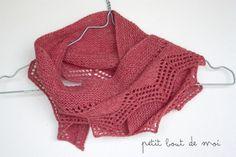 cassis shawlette couleur redcurrent en HolstGarn Coast en vente sur ma boutique