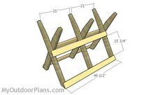 This step by step diy woodworking project is about log sawhorse plans. The project features instructions for building a sturdy sawbuck for cutting logs. Woodworking Projects That Sell, Diy Woodworking, Diy Septic System, Fall Wood Projects, Garden Projects, Saw Horse Diy, Sawhorse Plans, Firewood Storage, Wood Shed