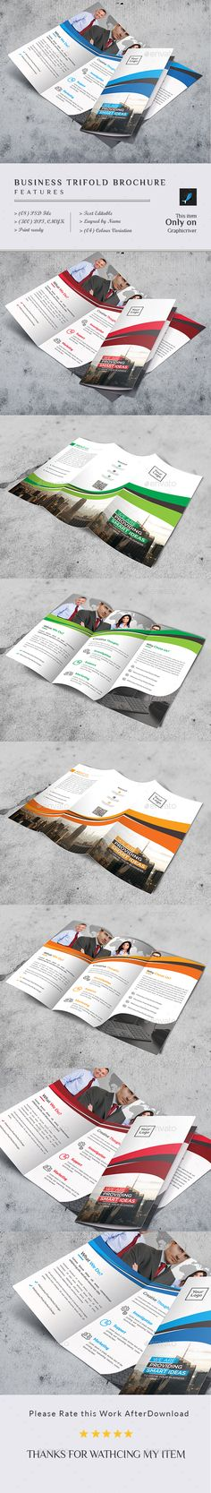Tri-Fold #Brochure - #Brochures Print #Templates Download here: https://graphicriver.net/item/trifold-brochure/19249223?ref=alena994