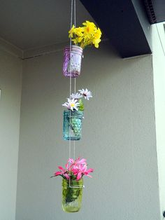Hanging Mason Jar Planters