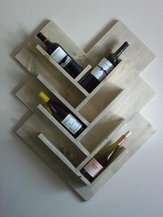 Herringbone Wine Rack by CacheLaPoudreGoods on Etsy