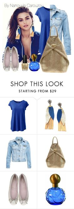 """gold backpack"" by nanouyia ❤ liked on Polyvore featuring Lands' End, Barbour International, OPI and plus size clothing"