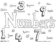 Coloring Book Of Numbers With 80 Bible Page Ideas Gallery Free