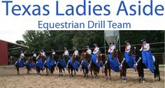 TEXAS LADIES ASIDE  This is a *Drill Team* of ladies that ride PERUVIAN PASO horses on side-saddles. They perform in equestrian shows, march in parades, etc. Do your homework THOROUGHLY before purchasing a Peruvian Paso. There is a suspensory ligament problem that plagues many horses in the breed. NOT ALL Peruvian Pasos will manifest this issue BUT it is important to know what you are dealing with AND as with ANY responsible BREEDING you need to be informed of possible inheritable traits…