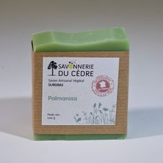 Savon surgras peaux sensibles au beurre de Karité biologique (35%) à l'huile d'olive bio et huile essentielle de Palmarosa et géranium d'Egypte