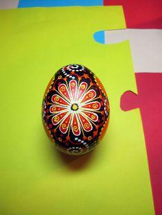 Traditional Ukrainian Easter egg.Hand painted Easter