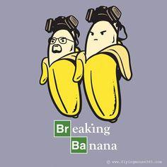 BREAKING BANANA Tees ▂▂▂▂▂▂▂▂▂▂▂▂▂▂▂▂▂▂▂▂ 20% limited time discount.  Shop here: www.FlyingMouse365.com  #tv #breakingbad #walterwhite #jessepinkman  #parody #tshirt #tees #cute #funny