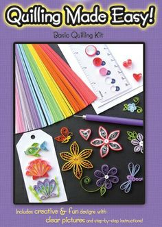 This is a basic beginner kit that makes paper quilling fun and easy to learn.