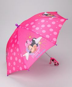 Take a look at this Pink Disney Minnie Mouse Umbrella by Puddle Play on #zulily today!