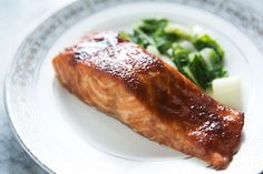 Miso Glazed Salmon on SimplyRecipes.com